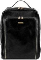 Tuscany Leather Bangkok leren laptop rugzak Zwart TL141793