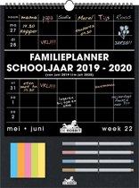 Familieplanner 2019-2020 - schooljaar - 32x43cm - GROOT - Luxe - Neon