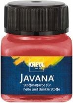Javana rode textielverf 20ml – Voor licht en donker gekleurd textiel