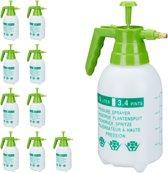 relaxdays 10x drukspuit 1.5 liter - hogedruk plantenspuit - druksproeier - plantensproeier