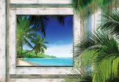 Fotobehang Beach Tropical View | XL - 208cm x 146cm | 130g/m2 Vlies