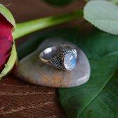 Zilveren ring Maansteen Classic