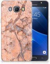 Samsung Galaxy J5 2016 TPU Hoesje Design Marmer Oranje