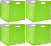 Set van 4 vilten opbergboxen 33x33x38 cm Kallax vilten korfinlegbox groen