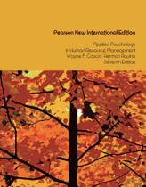 Applied Psychology in Human Resource Management: Pearson  International Edition