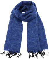 MoreThanHip Pina - Brede Sjaal - Yakwol - Jeansblauw