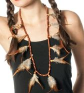 Indianenketting met veertjes
