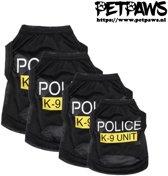 PetPaws - T-Shirt met opdruk Police K-9 voor de hond - M