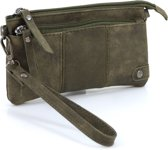 Handige portemonnee – tasje groen met voorvak