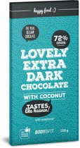 Body & Fit Food Smart Chocolate (0 Sugar & 72% cacao) - 1 reep - coconut
