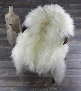 IJslandse Schapenvachtje 100% ECHT - Ivoor Wit - Vloerkleed - 110 x 65 cm - Zeer Lang Zacht Haar
