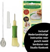 Clover Punch Needle borduurset - Punch naald set - Embroidery stitching tool set - punch naalden set