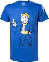 Fallout 4 - Vault Boy Approves Mannen T-shirt - Blauw - M