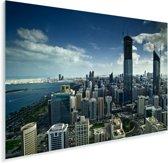 Het stadscentrum van Abu Dhabi in de Verenigde Arabische Emiraten Plexiglas 180x120 cm - Foto print op Glas (Plexiglas wanddecoratie) XXL / Groot formaat!