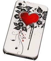 3D Hardcase met Diamant iPhone 4/4S Hartje - Back Cover Case Bumper Hoesje