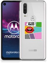 Motorola One Action Silicone Back Cover Popart Princess