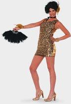 Gouden glitter kleedje voor dames 40 (l)