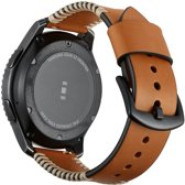 SmartphoneClip Leren bandje - Samsung Galaxy Watch (46mm)/Gear S3 - bruin