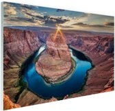 Horseshoe Bend Grand Canyon  Glas 60x40 cm - Foto print op Glas (Plexiglas wanddecoratie)
