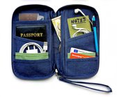 Luxe Reis Organizer - Paspoorthouder – Paspoorthoesje – Reisportefeuille -Blauw