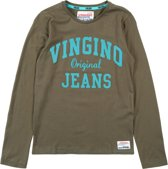 Vingino Jongens T-shirt - Olive Night - Maat 164