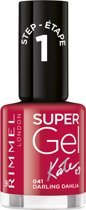 Rimmel London SuperGel by Kate Gel Nagellak - 041 Darling Dahlia