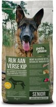 Pets Place Naturals Senior Large Breed - Hondenvoer - Kip - 3 kg