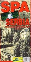Landkaart - wegenkaart Spa Serbia - thematische bronnen Servie