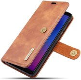 Samsung Galaxy A6 Plus Leren 2-in-1 Bookcase en Back Cover Bruin