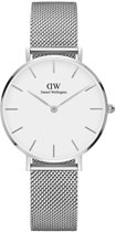 Daniel Wellington Petite Sterling White DW00100164 - Horloge - Staal - Zilver - Ø 32 mm