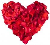 Rode rozenblaadjes 500 stuks - kunst rozenblaadjes