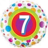 Folieballon met leeftijd 7