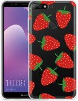 Huawei Y7 2018 Hoesje Aardbei