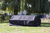 MaximaVida zwarte beschermhoes picknicktafel en tuintafel 200 - 240 cm - Zware 600 gr/m2 uitvoering