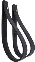 NOOBLU leren ophanglus - SLING 2,5 cm - maat S - zwart (2)