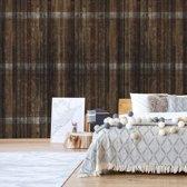 Fotobehang Dark Wood Planks | V4 - 254cm x 184cm | 130gr/m2 Vlies