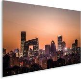 Beijing skyline met zonsondergang Plexiglas 90x60 cm - Foto print op Glas (Plexiglas wanddecoratie)