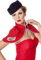 Stewardess hoed wolvilt blauw
