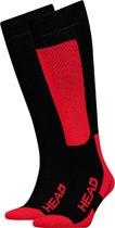 Head - Unisex 2-Pack Skie Kniehoogte Sokken Rood Zwart - 43-46