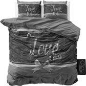 Sleeptime Pure Love - Dekbedovertrekset - Lits-Jumeaux - 240x200/220 + 2 kussenslopen 60x70 - Grijs
