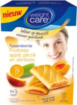 Weight Care snack reep appel-perzik en abrikoos - 10 stuks
