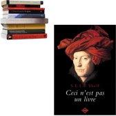 zwevende boekenplank Selfshelf Ceci n'est pas un livre | man rode tulband