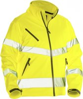 Jobman 1278 Softshell Jacket Hi-Vis Kl.3 Geel maat 3XL