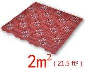 vidaXL Plastic Tuintegels / Vlonder 29 x 29 cm (24 stuks)