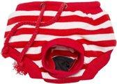 Loopsheidbroekje - rood gestreept - maat XL