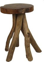 HSM Collection - stool Branch - old leg - blank teakhout