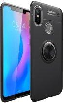 Teleplus Xiaomi Mi 8 Ravel Ring Silicone Case Black + Nano Screen Protector hoesje