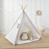 [en.casa]® Wigwam tent - speeltent voor kinderen - wit