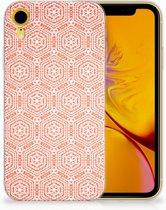Apple iPhone Xr Uniek TPU Hoesje Pattern Orange