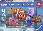 Ravensburger Disney Finding Nemo Nemo ontsnapt Twee puzzels van 12 stukjes
